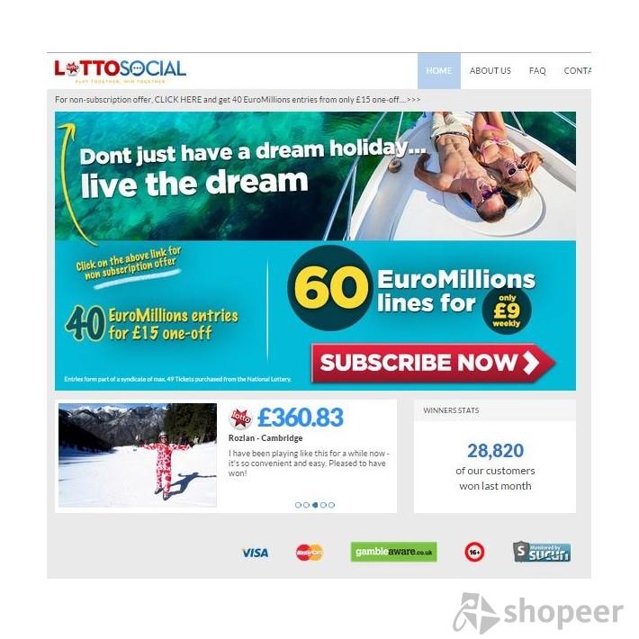 Lotto Social Login