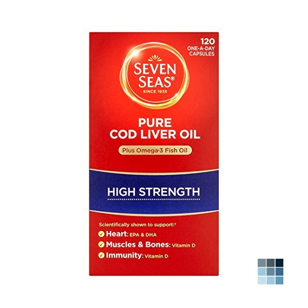 Seven Seas Pure Cod Liver Oil High Strength With Omega 3 Plus Vitamins D & E