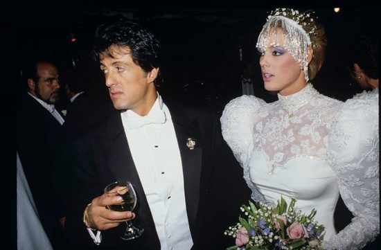 Brigitte Nielsen's Wedding Dress