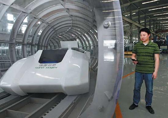 Levitating tube trains